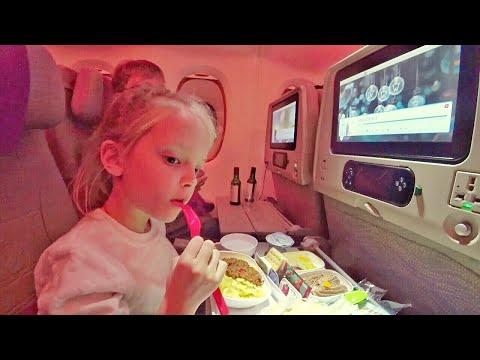 ВЛОГ Перелёт в  ОАЭ 🇦🇪 Дубай Emirates Airbus A380-800 18.11.2017