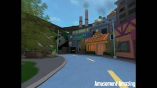 The simpsons at Universal Studios ROBLOX - Springfield USA