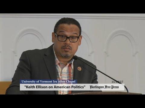 Keith Ellison on American Politics at the University of Vermont