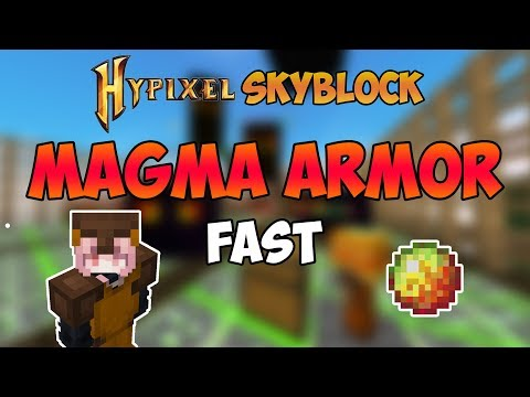 How To Get MAGMA ARMOR Fast In Hypixel Skyblock