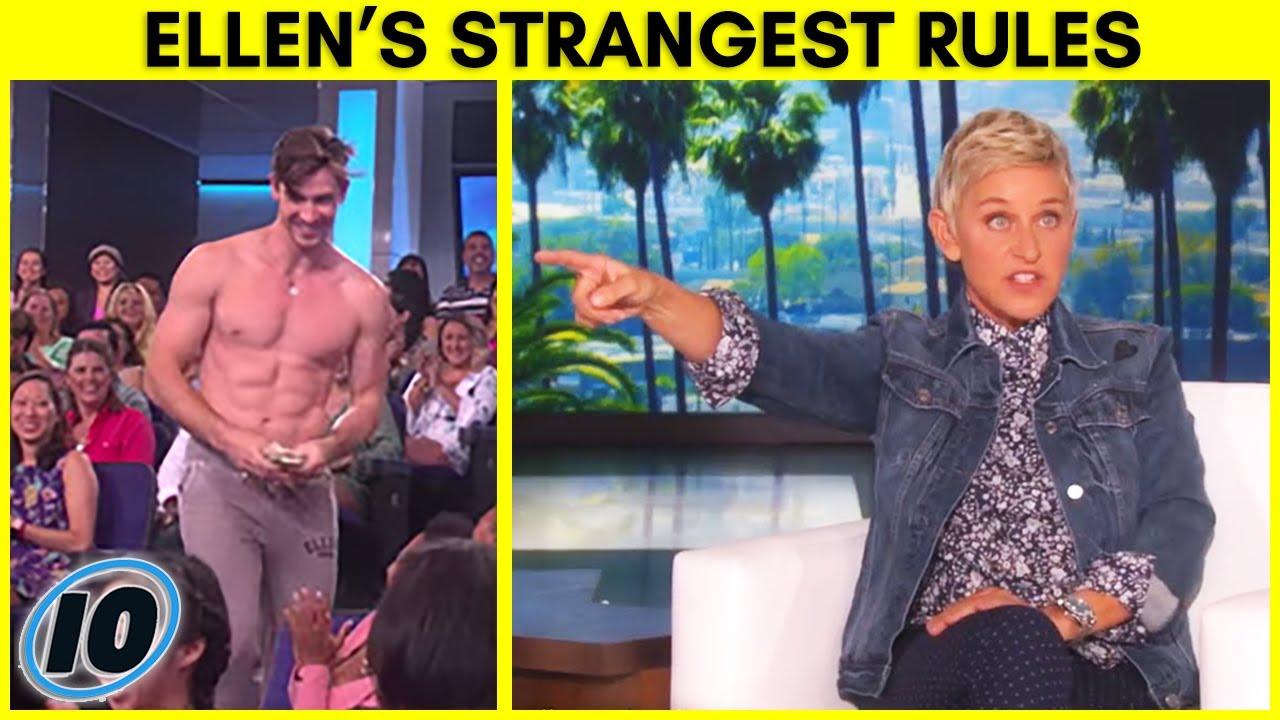 Top 5 Strangest Rules Ellen Makes Her Audience Follow