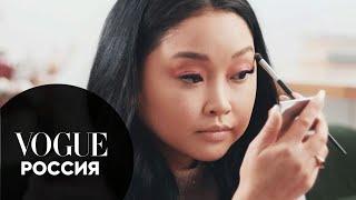 Лана Кондор показывает макияж глаз в пастельных тонах Vogue Россия