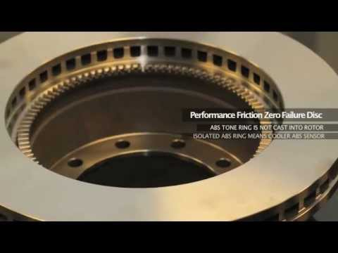 Performance Friction Medium-Duty Retrofit Rotor with Patented Isolated ABS  Ring!