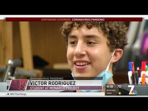 The Monarch School Receives Grant from The San Diego Foundation's COVID-19 Fund- on NBC 7