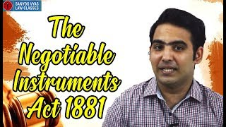 The Negotiable Instruments Act 1881 (Bill of Exchange) | Law Lectures | CA Inter | CMA Inter |