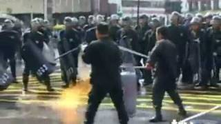 RIOT POLICE Vs EX MILITARY.mp4