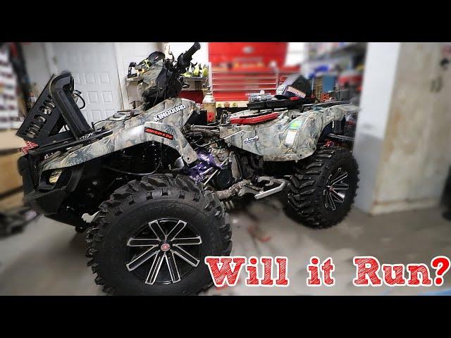 Trashed Suzuki Four Wheeler - Will It Run?