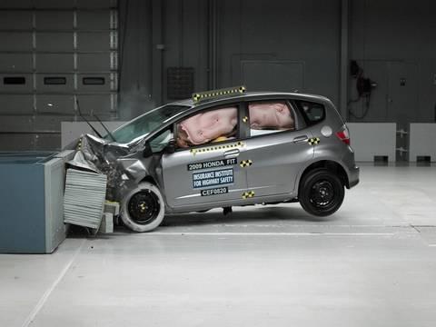 Superb 2009 Honda Fit Moderate Overlap IIHS Crash Test
