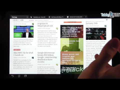 Android 4.0 Browser - Browsing Experience O Transformer Prime