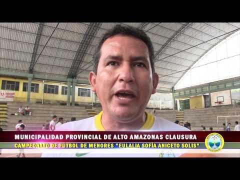 MUNICIPALIDAD PROVINCIAL DE ALTO AMAZONAS CLAUSURA CAMPEONATO DE FÚTBOL DE  MENORES