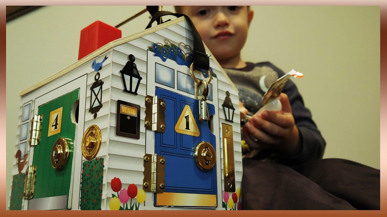 Melissa Doug Wooden Doorbell House With Surprises Fun Kids Play In 4k
