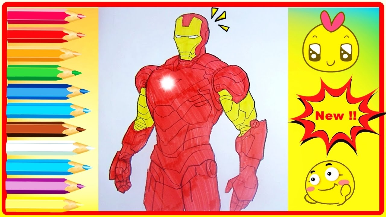 Iron Man Coloring Book - Coloring Pages For Kids - Iron Man Coloring ...