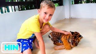 बाघ के खेत में व्लाद और मामा