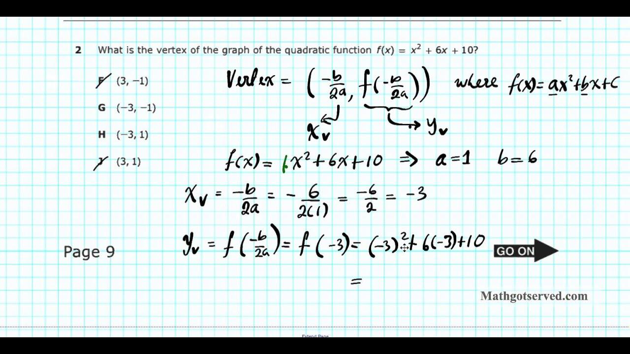 Algebra I Eoc Staar Pt I 1 5 Texas Achievement Test