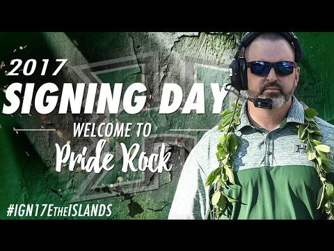 2017 Hawaii Football National Signing Day Recruit Summary