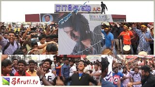 Ilayathalapathy Vijay Birthday Mass celebration at Vettri Theatre - Pokkiri Re-Release