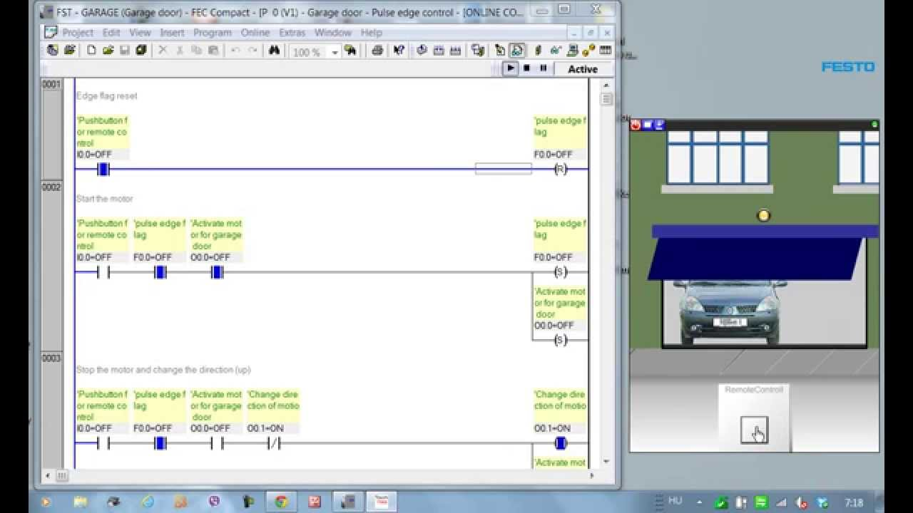 garage door remote programming how to wire a light fitting diagram plc (easyveep) - pulse-edge control youtube