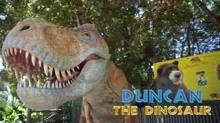 Santa Barbara Zoo's Duncan the Dinosaur visits the Ramada Santa Barbara