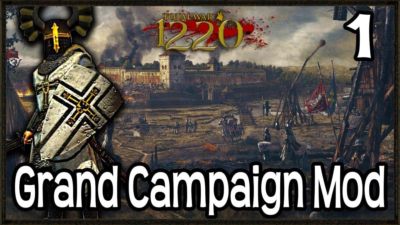 MEDIEVAL GRAND CAMPAIGN MOD! - Total War: Attila 1220 Mod Gameplay #1
