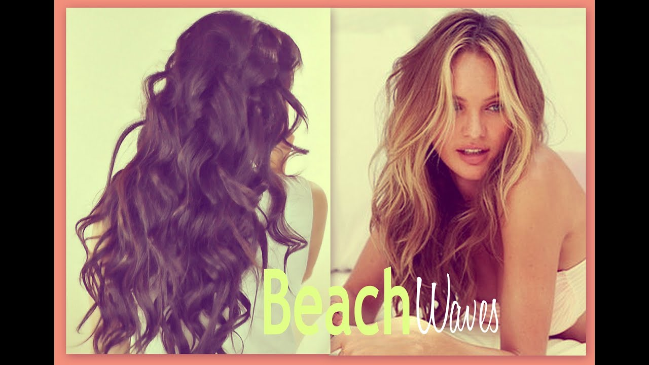 ☆BEACH HAIR TUTORIAL | VICTORIAu0027S SECRET CURLY HAIRSTYLES   HOW TO CURL  WAVES FOR MEDIUM LONG HAIR   YouTube