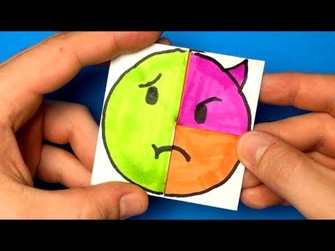 Emoji DIY Paper Magic Card | COOL Face Changer Tutorial For Kids