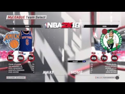 NBA 2K18 Celtics Myleage EP2- Kyrie Irving is on FIRE