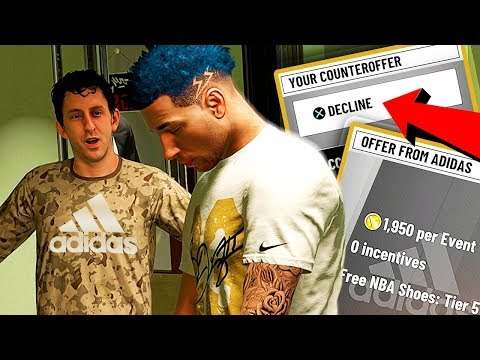 DECLINED ADIDAS SHOE DEAL? SPENT 164K VC ON SHOES! 😑 - NBA 2K19 MyCAREER #14