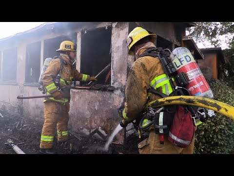Structure Fire / Encino   RAW FOOTAGE