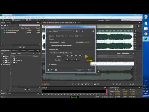 Adobe Audition ile Basit Ses inceltme ve hızlandırma