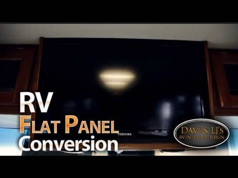 Rv Flatscreen Conversion and Remodel by Dave  LJs  YouTube