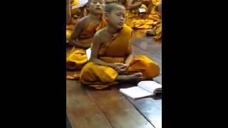 monk kid falling asleep lol