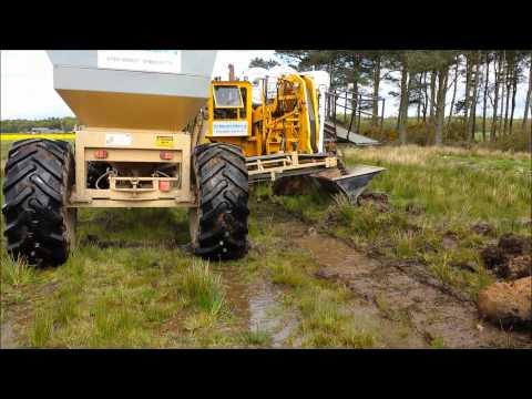 Land Drainage with 2030GP Inter Drain Plough with Mastenbroek Gravel Trailer