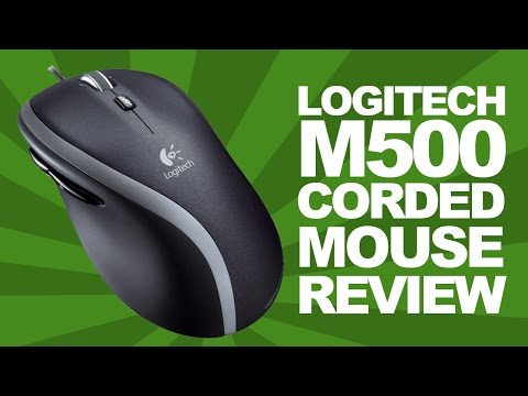 Logitech M500 Corded PC / Mac Mouse Review & Unboxing