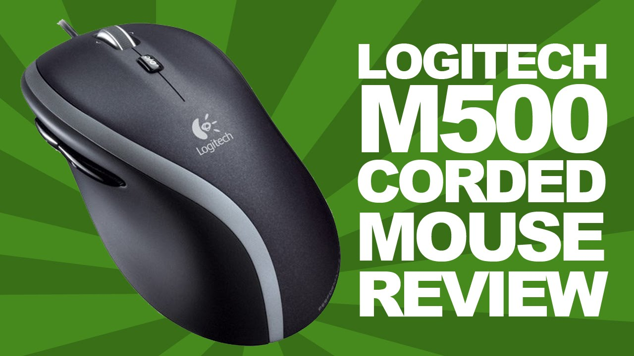 Logitech M500 Corded PC / Mac Mouse Review & Unboxing! Budget Gaming Mouse!
