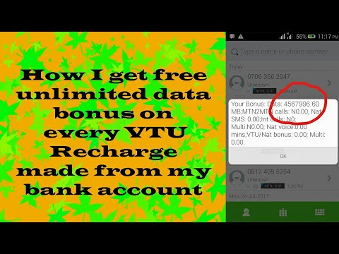 Secret: How I get free unlimited data on MTN Nigeria by recharging through  bank account