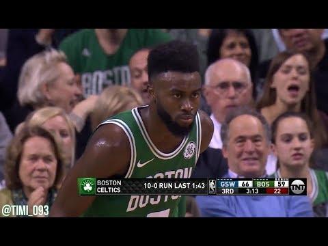 Boston Celtics 19-0 run UNCUT vs Golden State Warriors (11/16/2017)