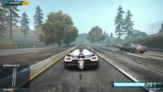 NFS Most Wanted 2 Максимальная скорость Koenigsegg Agera R ( 452 км/ч )