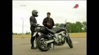 Учимся ездить на мотоцикле урок 1