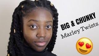 LOOKING LIKE AN AFRICAN PRINCESS 👸🏿 BIG, CHUNKY MARLEY TWISTS TUTORIAL