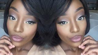 Glam Nude Makeup Tutorial For Dark Skin Tones