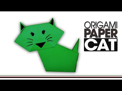 How To Make A Paper Cat Easy Origami | Popular Craft | Origami Cat Easy Step By Step