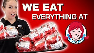 We Eat THE ENTIRE Wendy's MENU