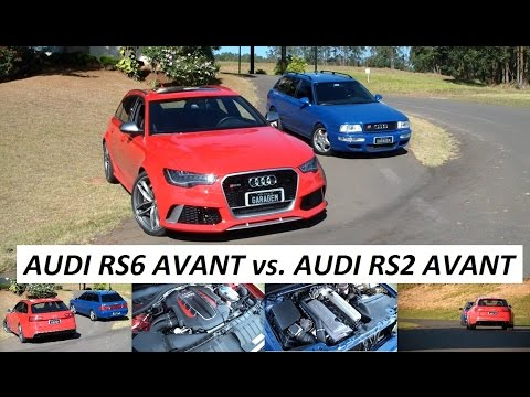 Garagem do Bellote TV: Audi RS6 Avant vs. Audi RS2 Avant