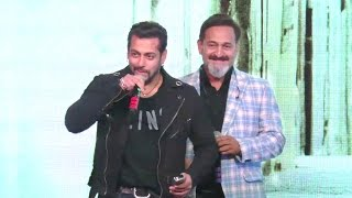 salman khans surprise entry speaking marathi at mahesh manjrekars music album rubiks cube launch
