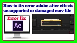 How to Fix After Effects Error?Could not Read from Source