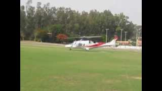 AW109 take-off from RCF (Kapurthala). Too close AW109 AgustaWestland.