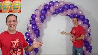 como hacer un arco de globos - decoracion con globos - arco con globos