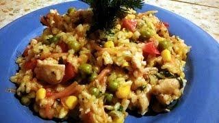 Курица с рисом и овощами Готовим сами
