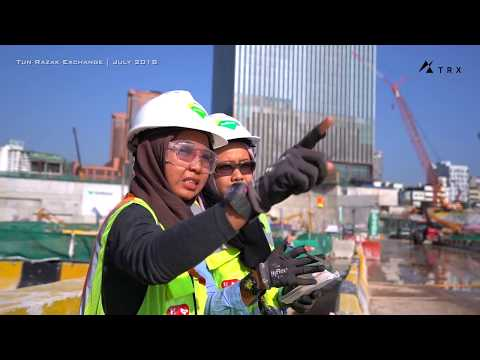 TRX July 2018 Site Progress (Tun Razak Exchange) Financial Hub of KL Malaysia