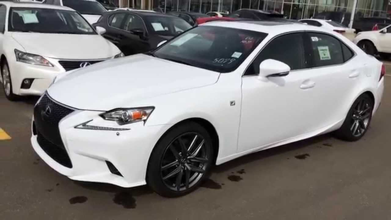 New Ultra White On Black 2015 Lexus Is 350 Awd F Sport